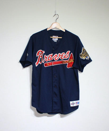 used:Majestic Atlanta Braves Jersey #10 JONES -  L size