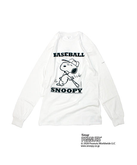 TAMANIWA: Base Ball Long sleeve Tee (SNOOPY)