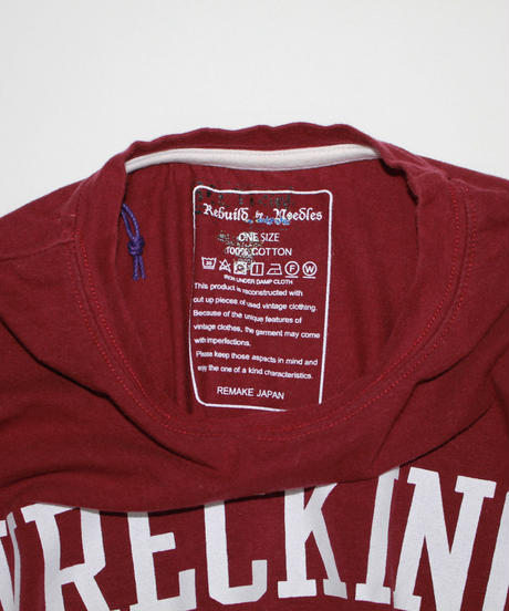 Rebuild by Needles:7 Cuts S/S Tee College Wide - onesize #38