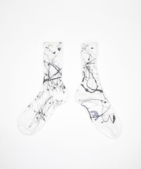 ROSTER SOX:PAINT SOCKS - WHITE (RS-202)