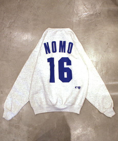 used:Los Angeles Dodgers #16 HIDEO NOMO used long sleeve sweat  #16