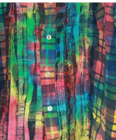 Rebuild by Needles:Flannel Shirt Ribbon Shirt  Tie Dye #4 - L size