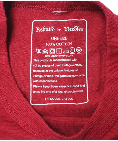 Rebuild by Needles 7 Cut Tee College Wide WINE #2 - onesize