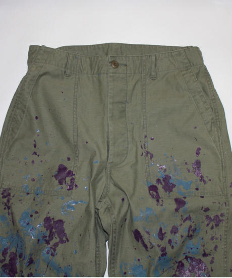 Needles:FATIGUE PANT - BACK SATEEN / PAINT