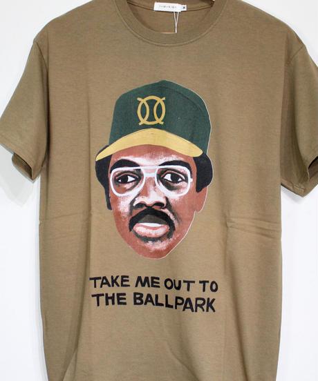 TAMANIWA:ball park  short sleeve tee -front logo print (JACSON)