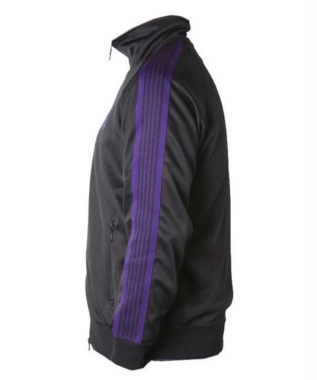 Needles:TRACK JACKET  POLY SMOOTH BLACK