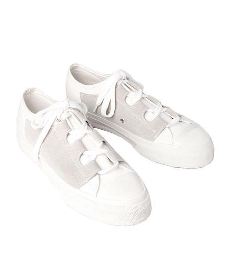 NEEDLES - Asymmetric Ghillie  Sneaker- white