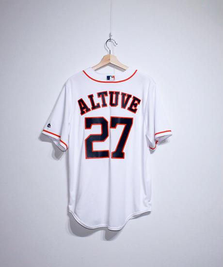 used:majestic Houston Astros #27 Jose Altuve Jersey