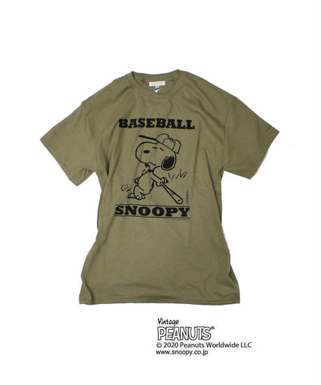 TAMANIWA: Base Ball Short sleeve Tee (SNOOPY)