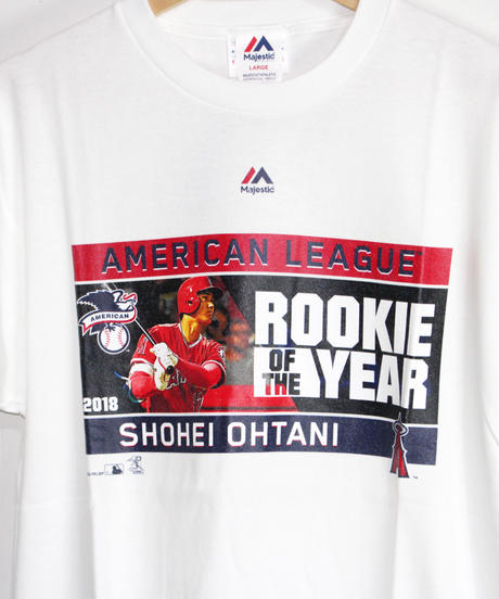majestic:#17 OHTANI ROOKIE OF THE YEAR TEE