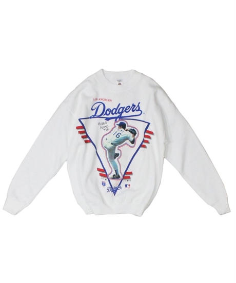 dead stock:Los Angeles Dodgers #16 HIDEO NOMO long sleeve sweat -Fruit of the room - M size