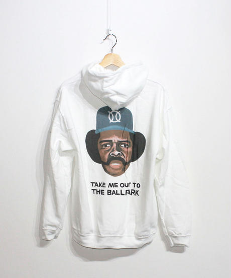TAMANIWA:ball park  Hoodie Sweat - back print logo (OZZIE)