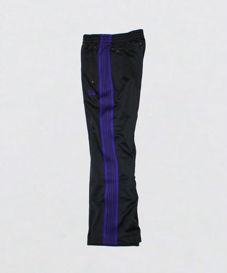 Needles : BOOT-CUT TRACK PANT  POLY SMOOTH - CHARCOAL