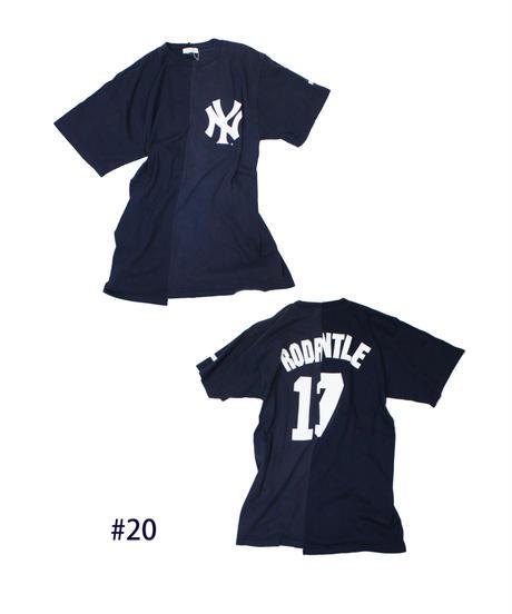 TAMANIWA:MLB half remake tee #16  #17  #18  #19  #21