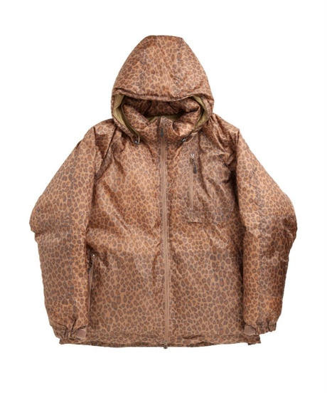 Needles C.E. DOWN JACKET POLY TAFFETA / LEOPARD PRINT - BROWN  M size