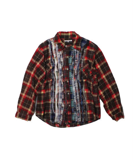 Rebuild by Needles :Ribbon Flannel Shirt  BROWN - M size #3