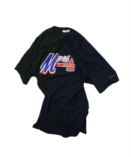 TAMANIWA  MLB REMAKE HALF TEE - NYM×ATL ①