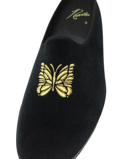 Needles  Papillon Emb Mule - Cotton Velveteen