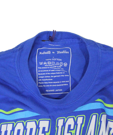 Rebuild by Needles 7 Cuts long sleeve Tee College BLUE  - size L ⑥