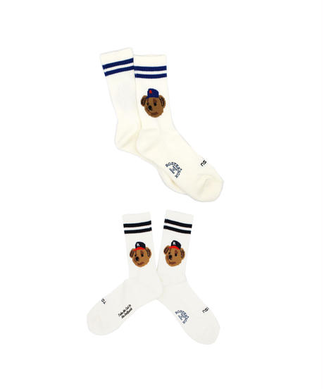 ROSTER SOX:TEAM BEAR SOCKS  - WHITE