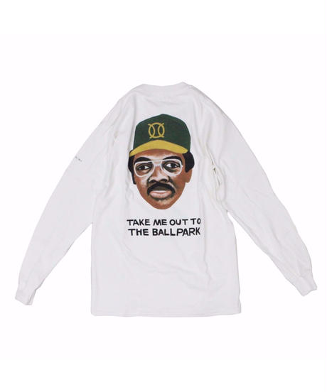 TAMANIWA:ball park  long sleeve tee - back print logo (JACSON)