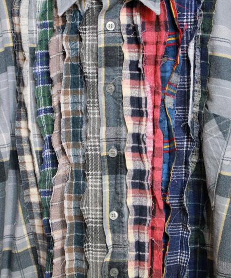 Rebuild by Needles:Ribbon Flannel Shirt - L size #60