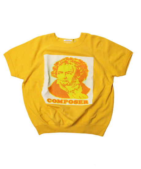 COPY CAT  OLD SHORT SLEEVE SWAET COMPOSER YELLOW  - size ASORT