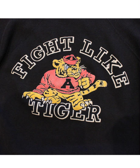 COPY CAT   -  OLD SHORT SLEEVE SWAET FIGHT LIKE TIGER BLACK - size ASORT