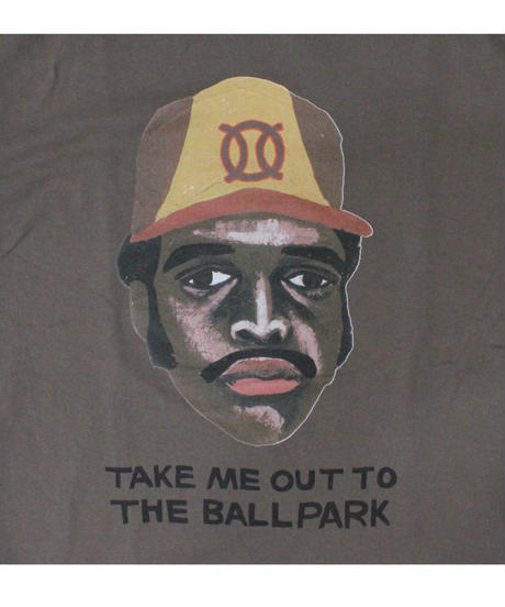 TAMANIWA:ball park  short sleeve tee -front logo print (TONY)