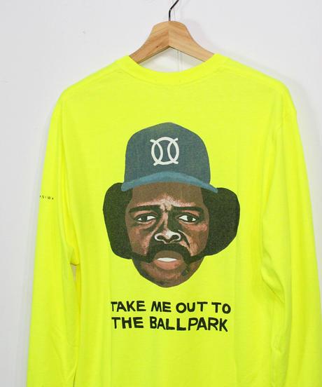 TAMANIWA:ball park  long sleeve tee - back print logo (OZZIE)