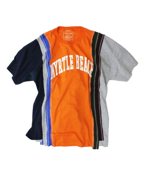 Rebuild by Needles - 7 Cut Tee College Wide #6 ORANGE - onesize
