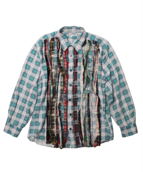 Rebuild by Needles Ribbon Flannel Shirt GREEN  - M size
