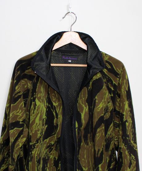 Needles Sportwear:Warm-Up Piping Jacket - Poly Fleece Tiger Camo Stripe