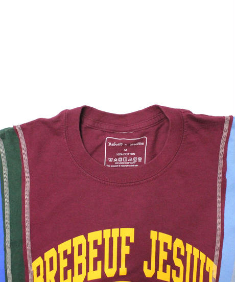 Rebuild by Needles  7 Cut Tee College WINE #9 - size M