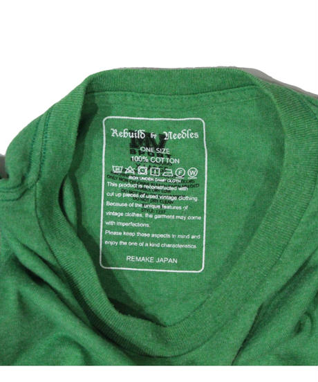 Rebuild by Needles - 7 Cut Tee College Wide #10  GREEN - onesize