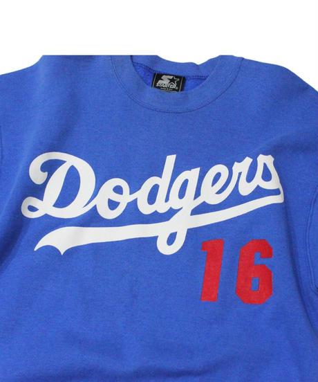 used:Los Angeles Dodgers #16 HIDEO NOMO used long sleeve sweat - STARTER #4