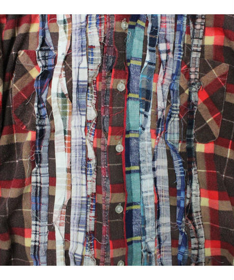 Rebuild by Needles Ribbon Flannel Shirt  BROWN - M size