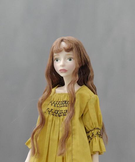 DIY スモッキングワンピース(マスタード色)キット