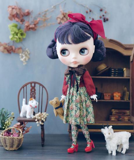 DIY ティペット付き ガーデンドレス(赤) キット