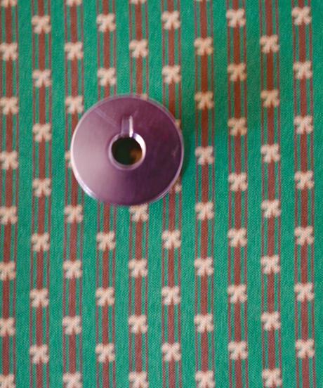 [01/13 予約販売] レトロリボン 緑色  ハノンオリジナルファブリック 20cm x 50cm