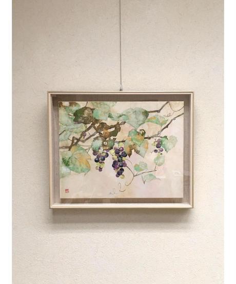 日本画 青木志子 「秋声」 6号