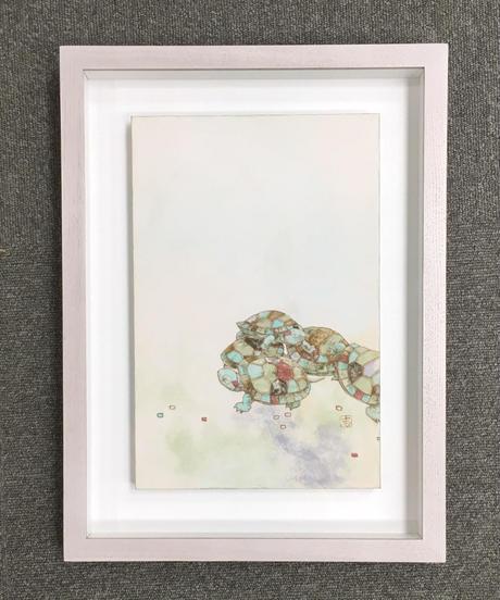 日本画 青木志子 「どこへ」 P4号