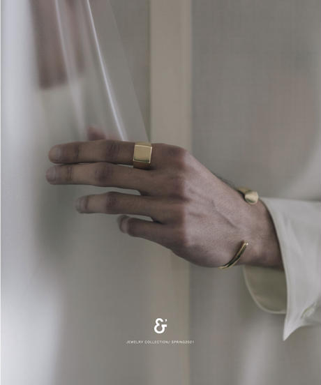 202 HORN BANGLE (gold plated)   Men's