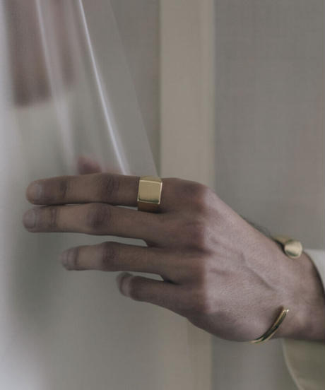 VIERECK RING (gold plated)