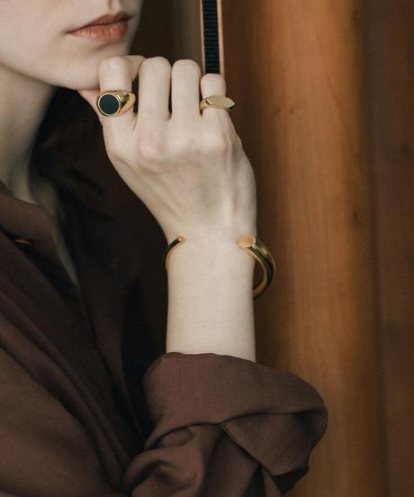 202 HORN BANGLE  (gold plated) Women's