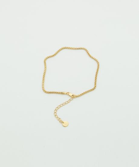 ROUNDEDE CORNERS ANKLET101 (gold plated)