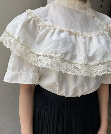 cotton frill blouse