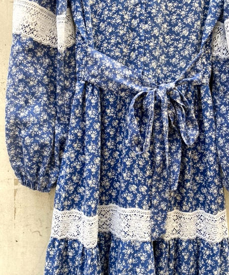 vintage flower print one-piece