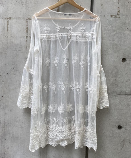 see-through lace tunic