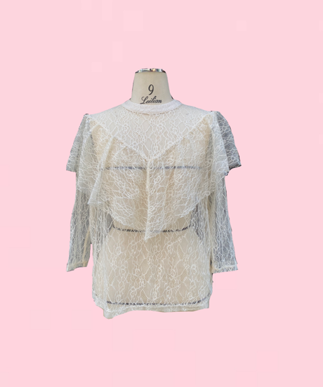frill blouse  H044-14